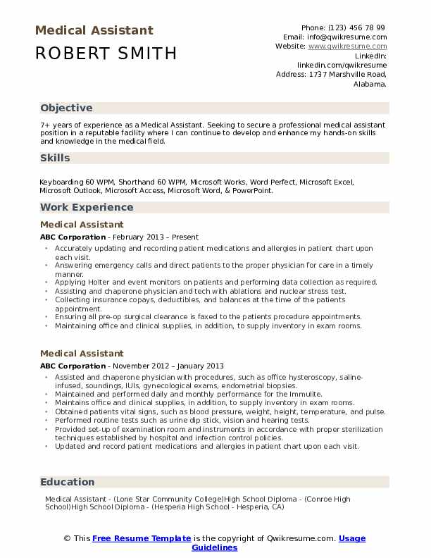 medical assistant resume samples qwikresume objective for example pdf oracle database Resume Objective For Medical Assistant Resume Example