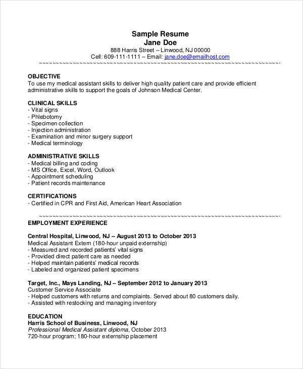 medical assistant resume templates pdf free premium sample best ats checker for Resume Medical Assistant Resume