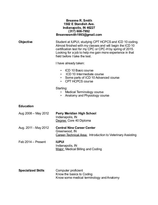 medical coder resume no experience sample professional coding billing and examples cool Resume Medical Coder Resume Objective