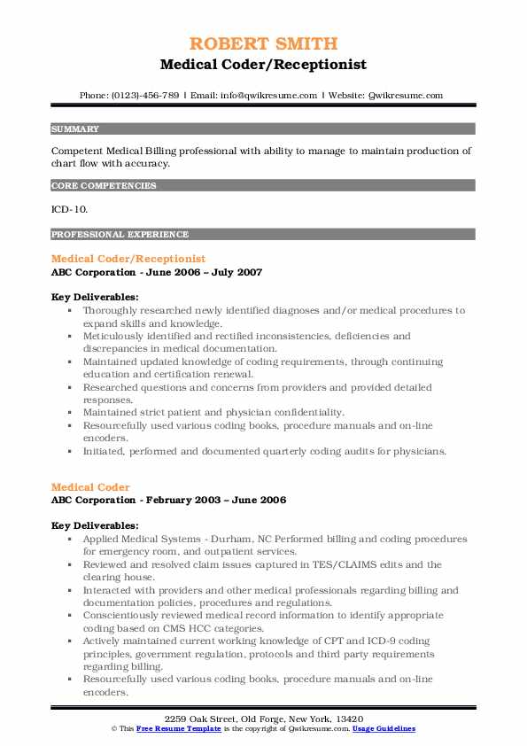 medical coder resume samples qwikresume format for coding job pdf customer service Resume Resume Format For Medical Coding Job