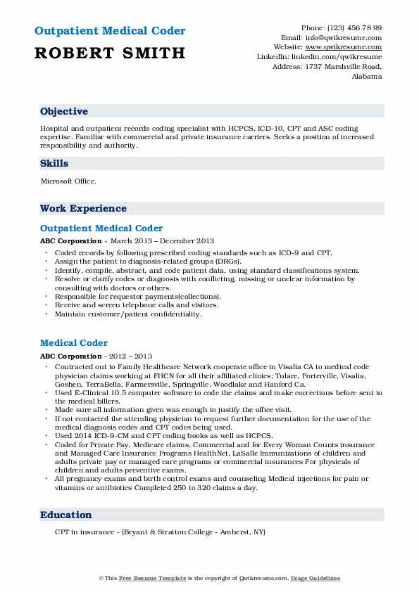 medical coder resume samples qwikresume format for coding job pdf seo years experience Resume Resume Format For Medical Coding Job