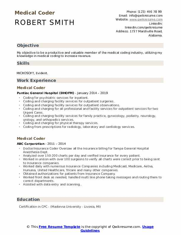 medical coder resume samples qwikresume objective for coding pdf making the perfect Resume Objective For Medical Coding Resume
