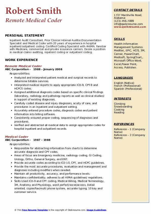medical coder resume samples qwikresume objective for coding pdf should you put quote on Resume Objective For Medical Coding Resume