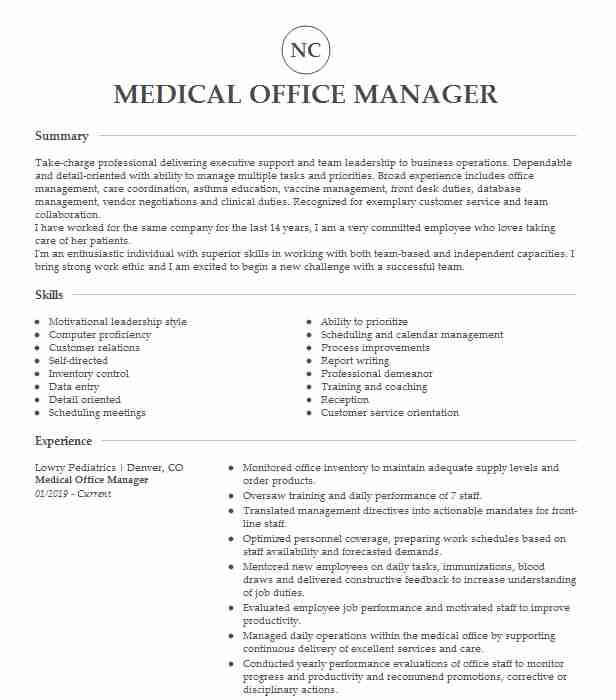 medical office manager resume example center healthcare sample assistant microsoft word Resume Healthcare Office Manager Resume Sample