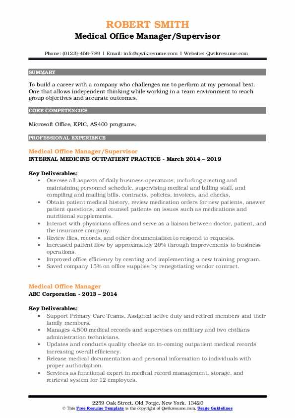 medical office manager resume samples qwikresume healthcare sample pdf special skills for Resume Healthcare Office Manager Resume Sample