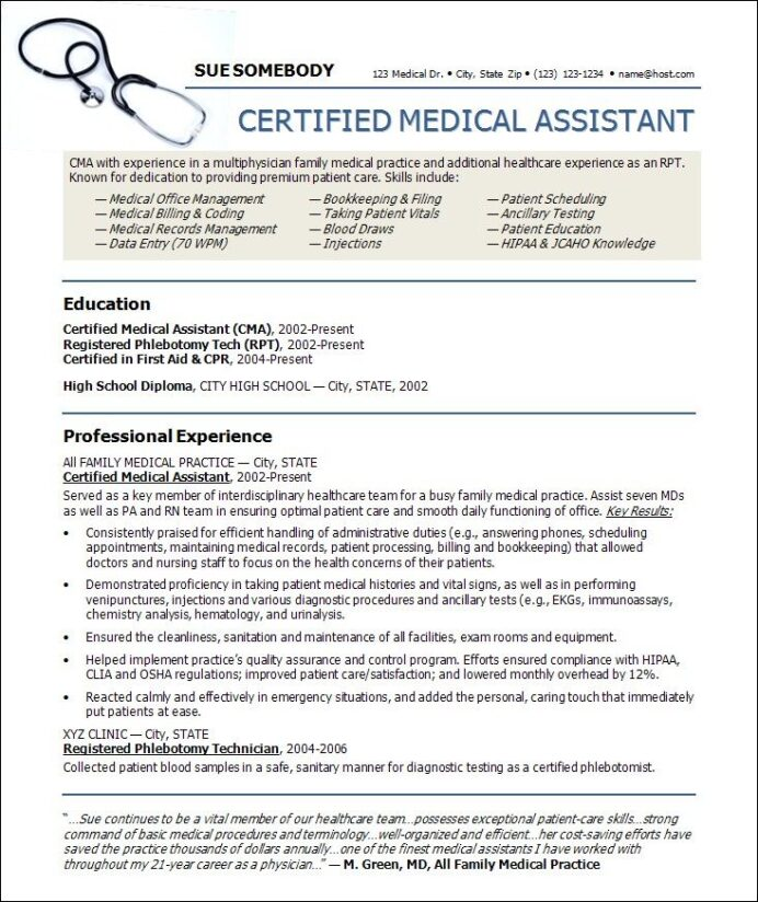 medical resume templates free assistant template microsoft word database search skills Resume Free Medical Resume Templates Microsoft Word