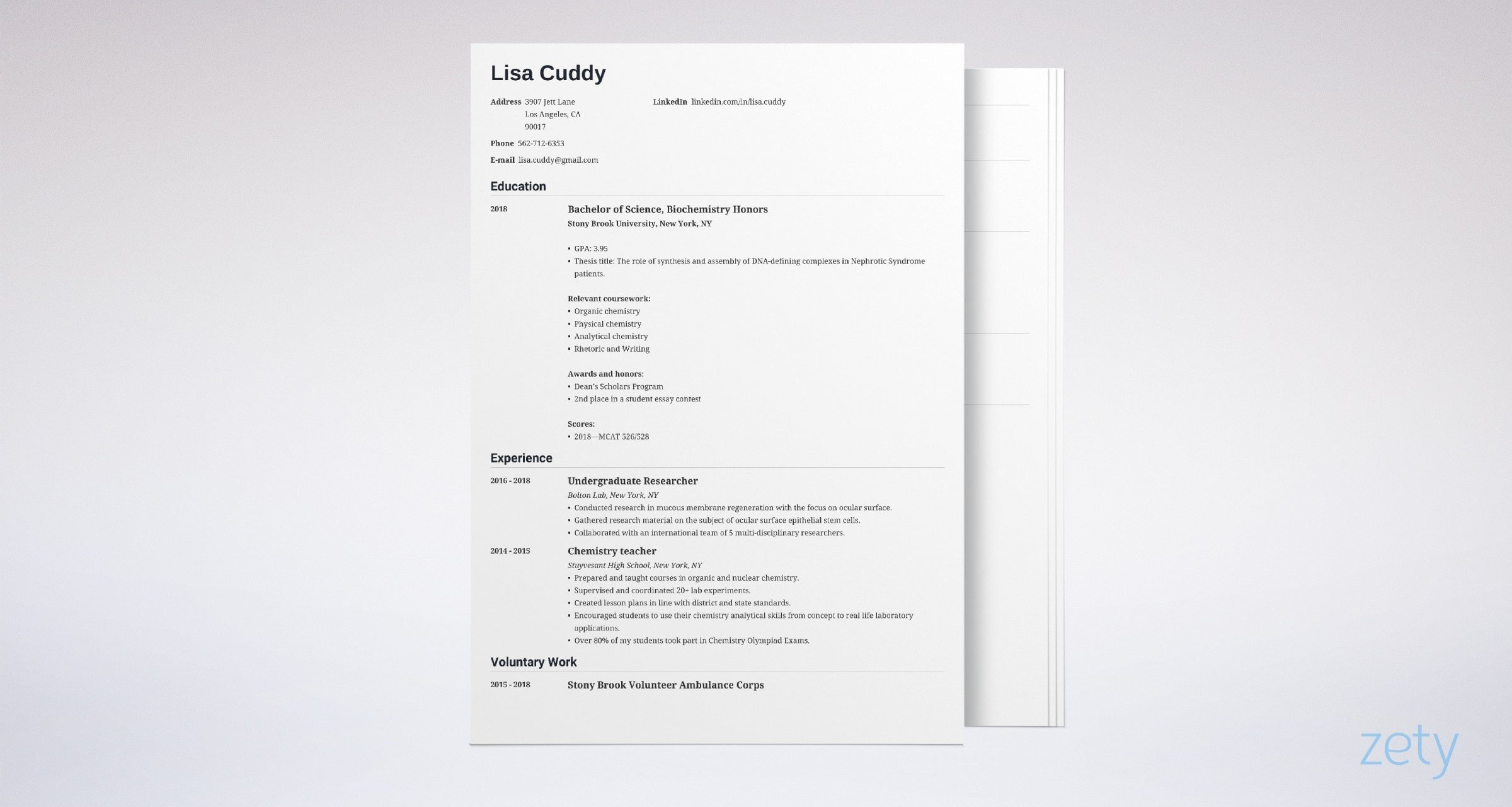 medical school resume sample for admission tips examples application example paper size Resume Medical School Application Resume