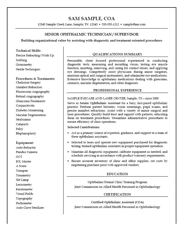 medical technician resume example instrument exmed22 office manager sample aem business Resume Instrument Technician Resume