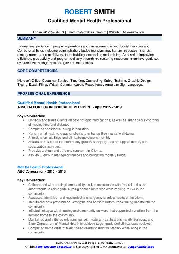 mental health professional resume samples qwikresume objective for pdf clerical duties Resume Objective For Mental Health Resume