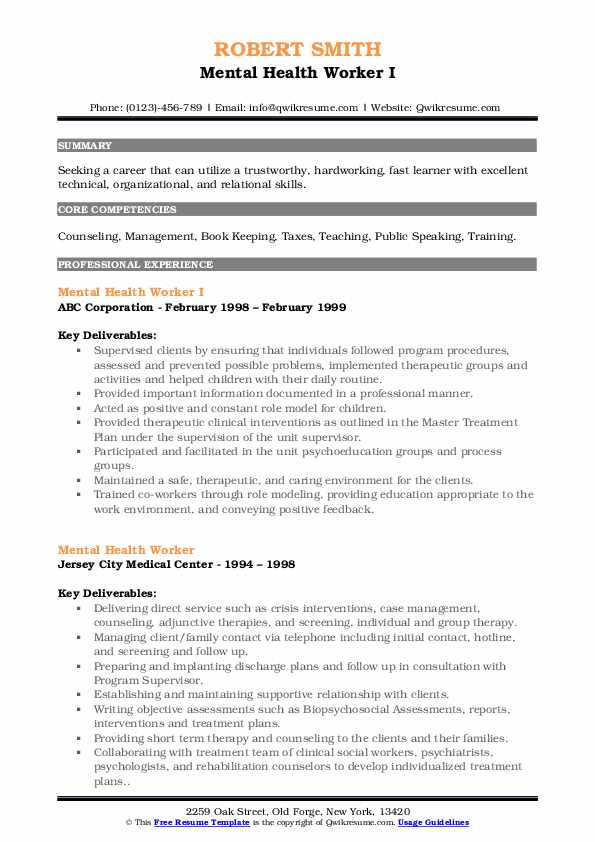mental health worker resume samples qwikresume job description for pdf good objective Resume Mental Health Job Description For Resume