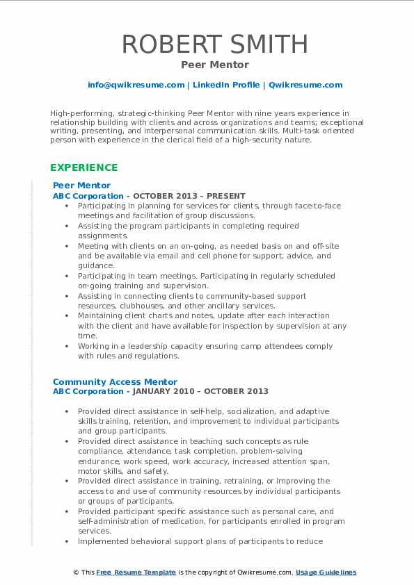 mentor resume samples qwikresume mentoring experience on pdf core competencies examples Resume Mentoring Experience On Resume