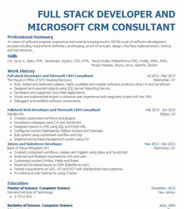 microsoft dynamics crm consultant resume example the tm group inc skills portion of best Resume Microsoft Dynamics Consultant Resume