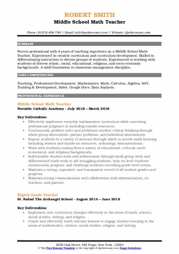 middle school math teacher resume samples qwikresume and science pdf best mechanical Resume Math And Science Teacher Resume
