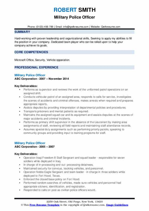 military police officer resume samples qwikresume for members pdf marketing action words Resume Resume For Military Members