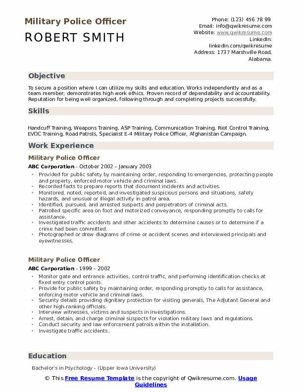 military police officer resume samples qwikresume for members pdf solids control Resume Resume For Military Members