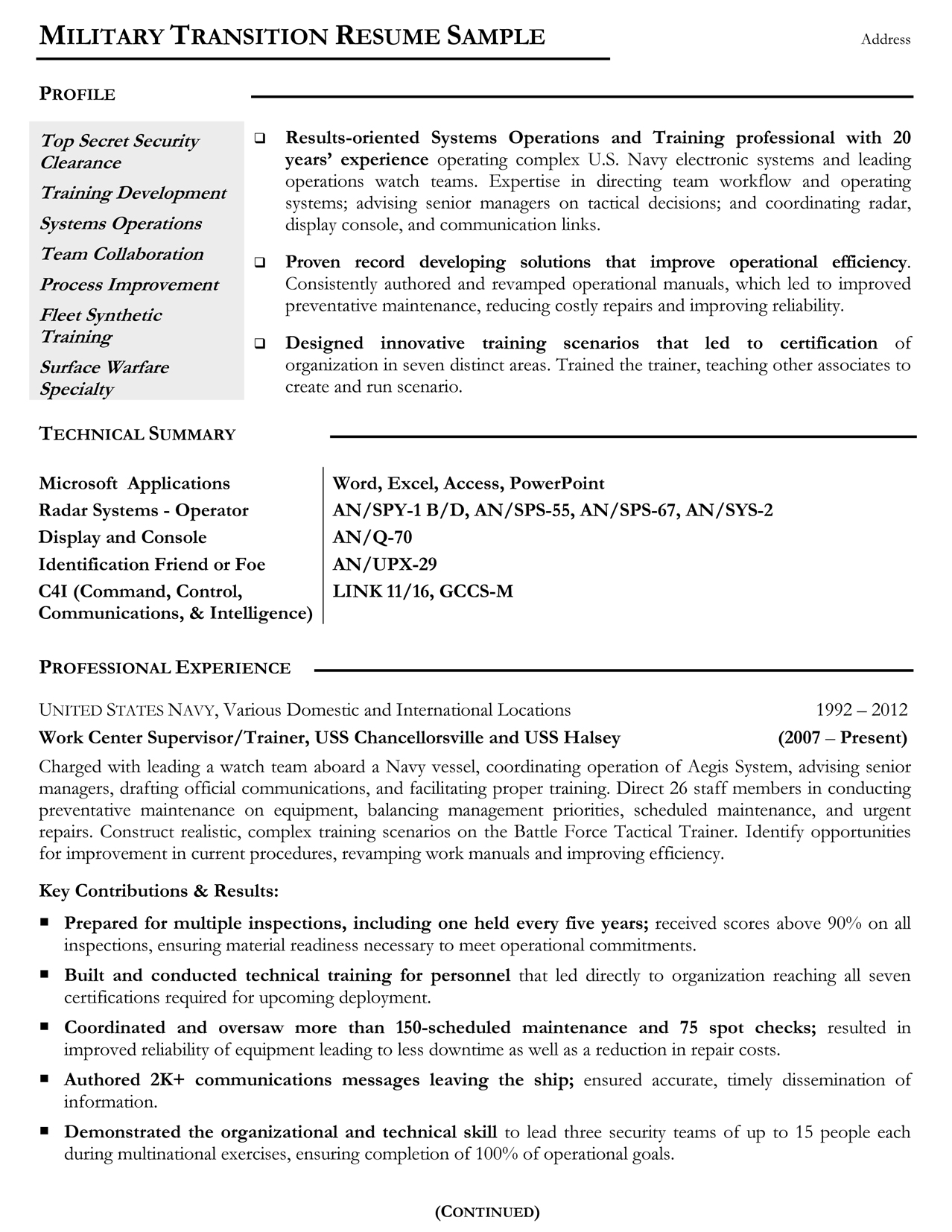 military resume samples examples writers tips for veterans mtr sample matching machine Resume Resume Tips For Veterans