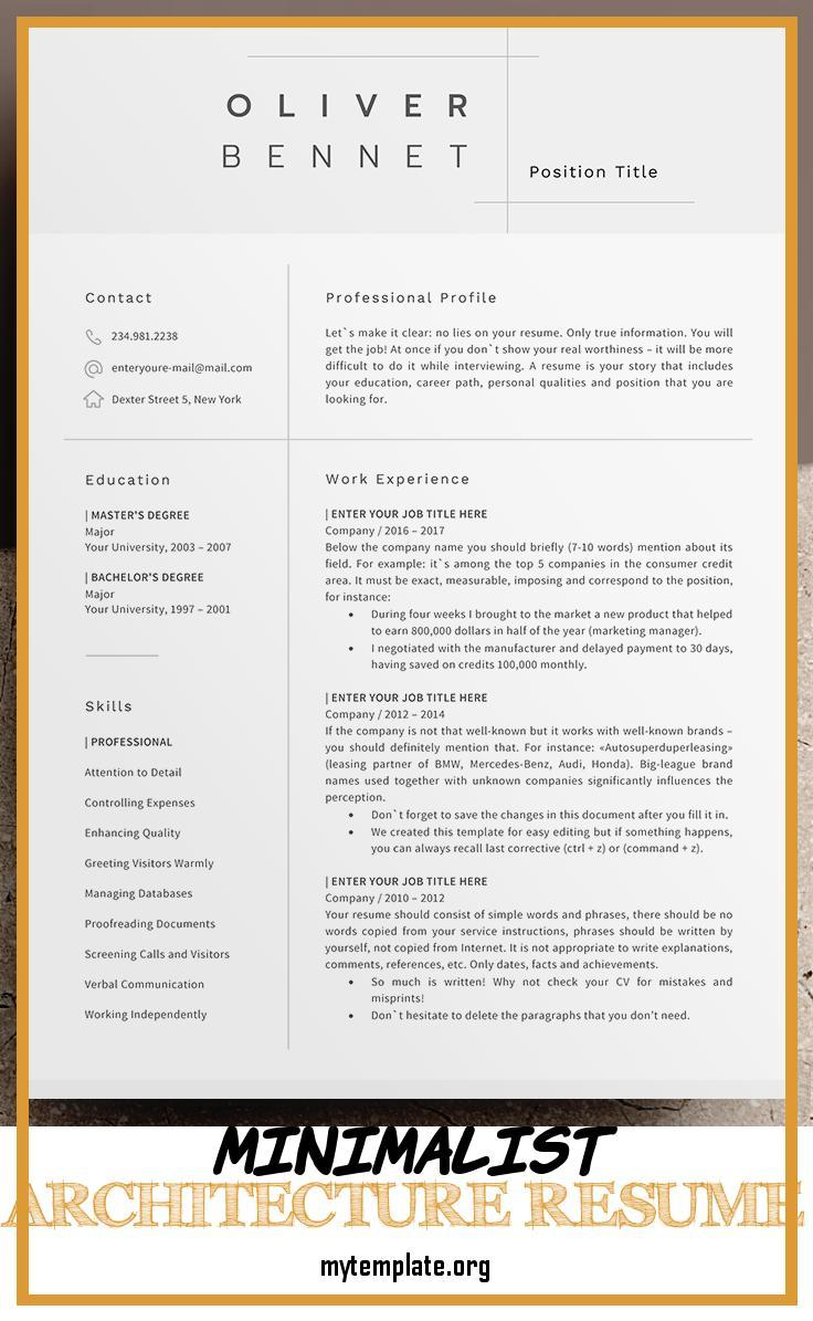 minimalist architecture resume free templates template of cv pin apartment manager puppet Resume Architecture Resume Template