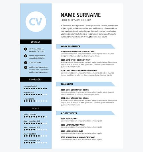 minimalist cv template blue color free stock photos resume hospital medical coding Resume Free Stock Photos Resume