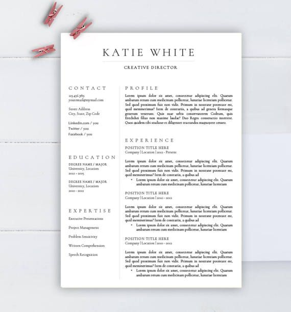 minimalist resume template cv for word two professional medical free refinery operator Resume Minimalist Resume Template Free Word