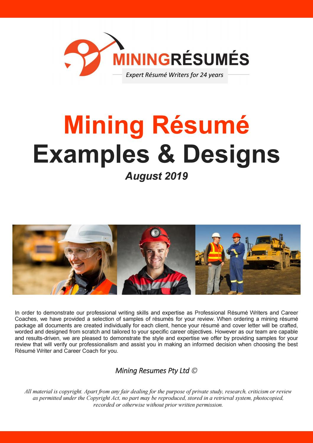 mining resume samples by issuu shutdown supervisor parts of general personal summary for Resume Shutdown Supervisor Resume