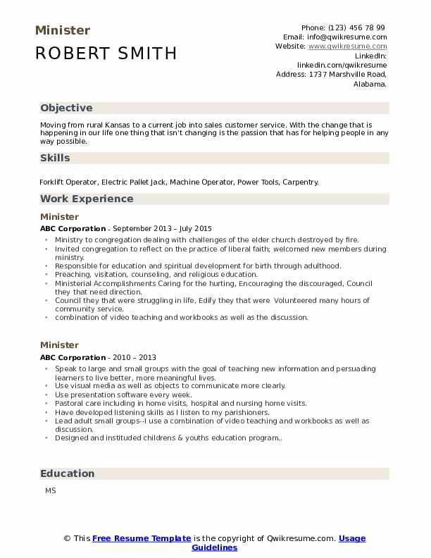 minister resume samples qwikresume ministry objective examples pdf bld charge plc Resume Ministry Objective Resume Examples