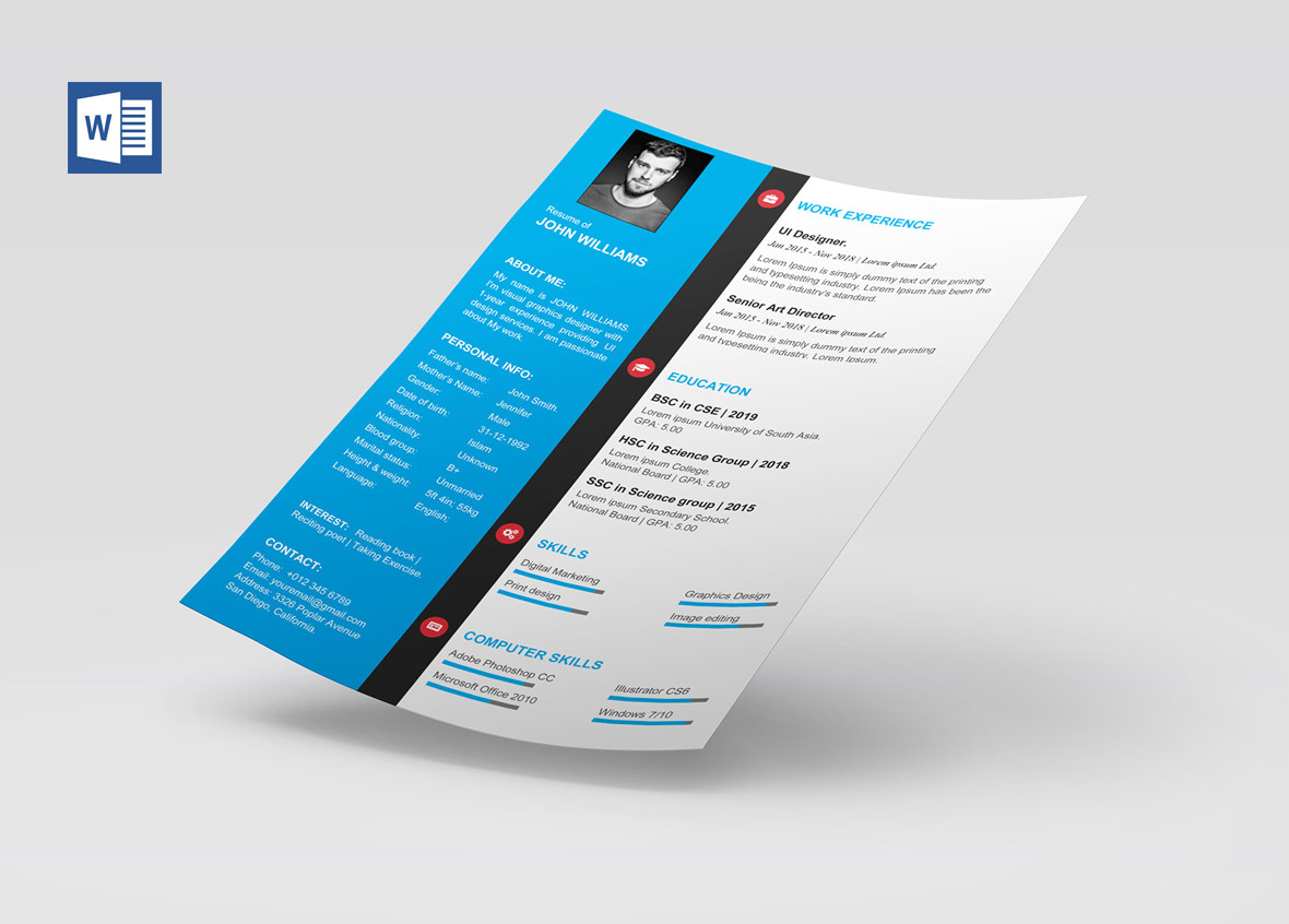 modern cv template word free resumekraft awesome resume templates microsoft paper for and Resume Free Awesome Resume Templates Microsoft Word