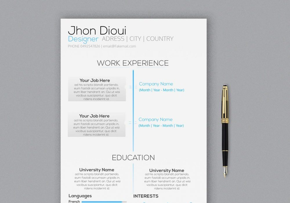 modern photoshop resume template free maxresumes templates 1000x700 lab skills putting Resume Free Resume Photoshop Templates