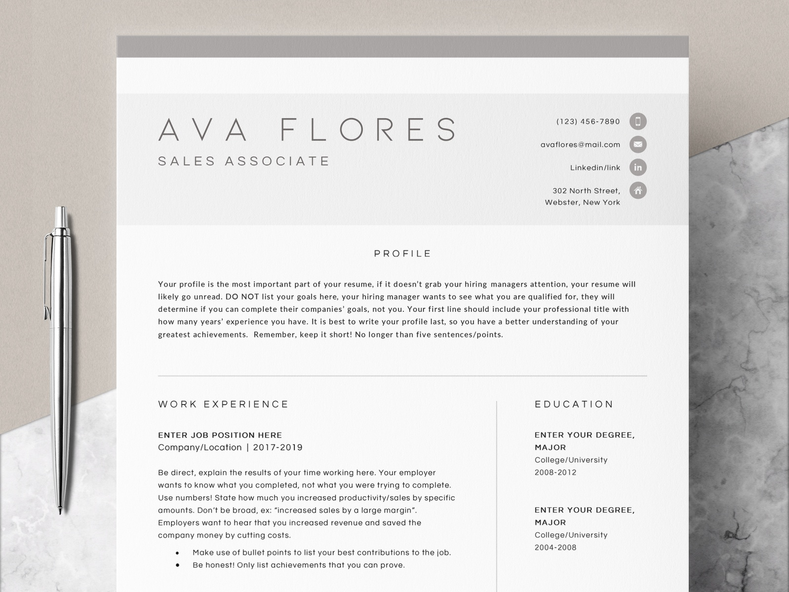 modern resume one two design by the on dribbble or perl developer sample certified home Resume One Or Two Page Resume 2019