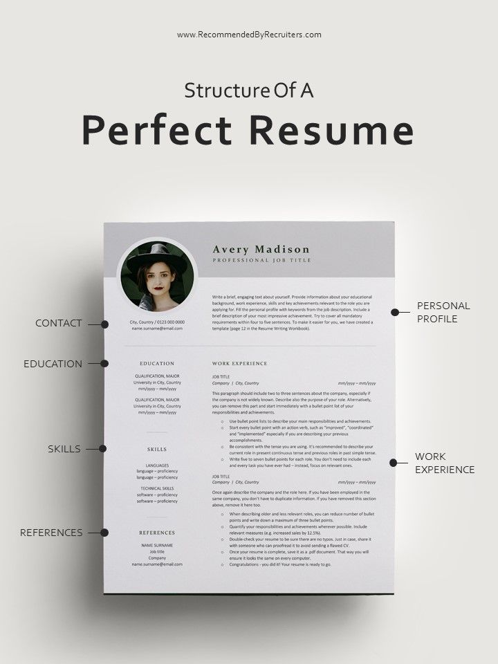 modern resume template with photo instant cv etsy in design professional structure of Resume Structure Of Resume Writing