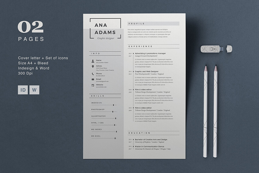 modern resume templates with clean elegant cv designs free word anna template example Resume Free Word Resume Templates 2019