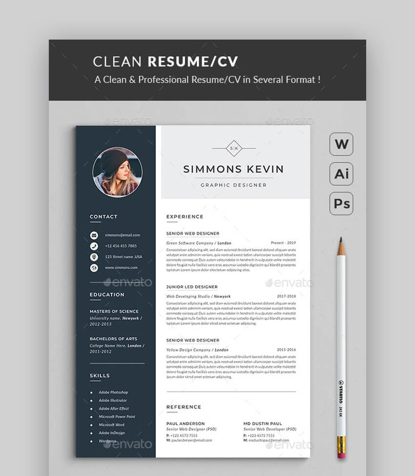 modern resume templates with clean elegant cv designs template ats friendly cubic dental Resume Elegant Resume Template
