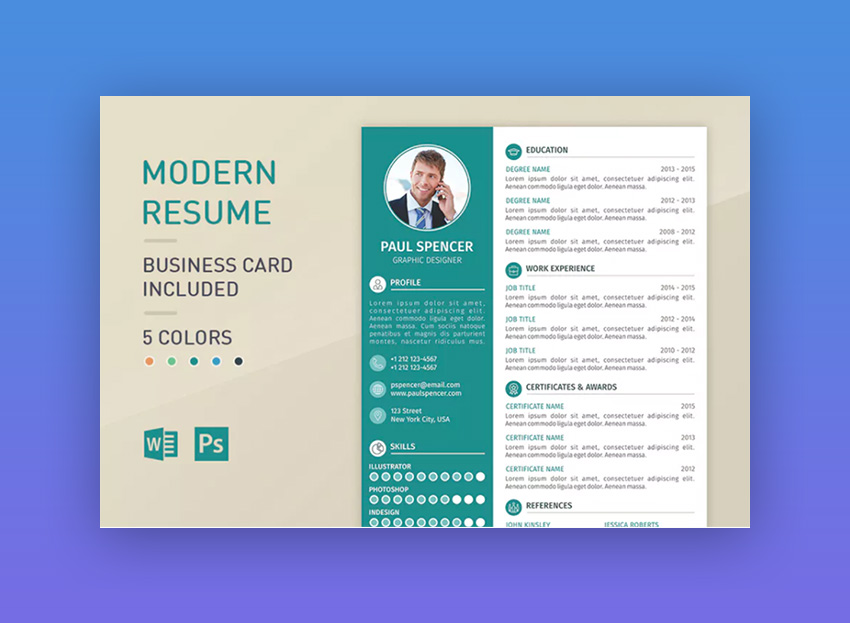 modern resume templates with clean elegant cv designs template examples for teenager Resume Modern Resume Template Examples