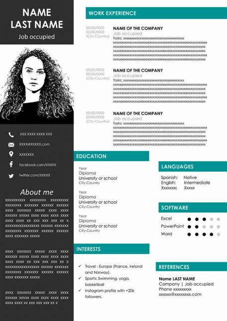 modern sample resume to for free in word template examples curriculum vitae outline Resume Modern Resume Template Examples