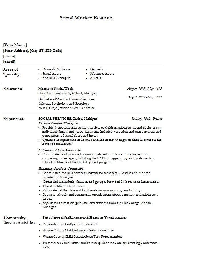 modern social worker resume template sample clinical work community service example edge Resume Community Service Worker Resume Example