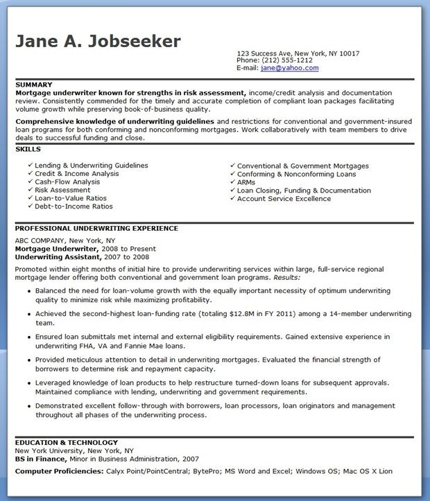 mortgage underwriter resume examples downloads underwriting engineering cover letter Resume Mortgage Underwriter Resume Cover Letter