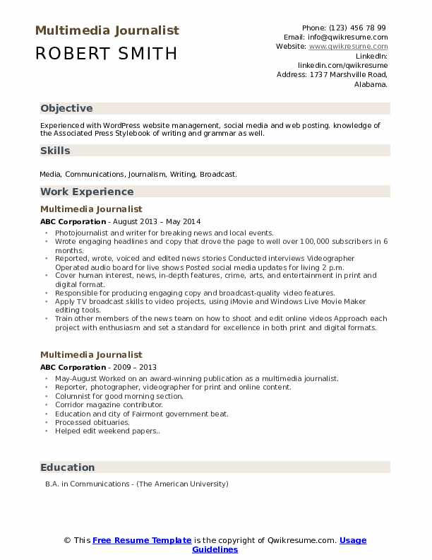 multimedia journalist resume samples qwikresume journalism skills for pdf coo cafeteria Resume Journalism Skills For Resume
