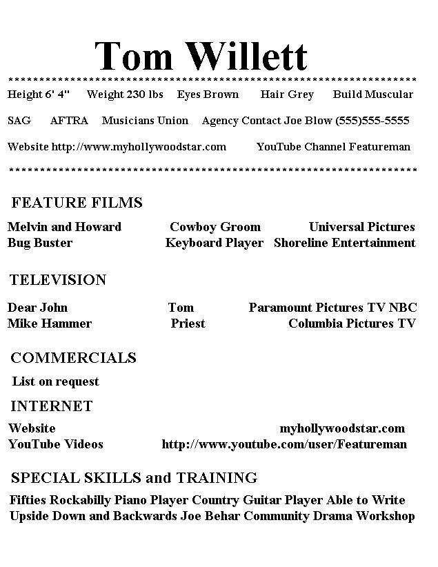 my hollywood star resume examples of special skills for acting actorresume high school Resume Examples Of Special Skills For Acting Resume
