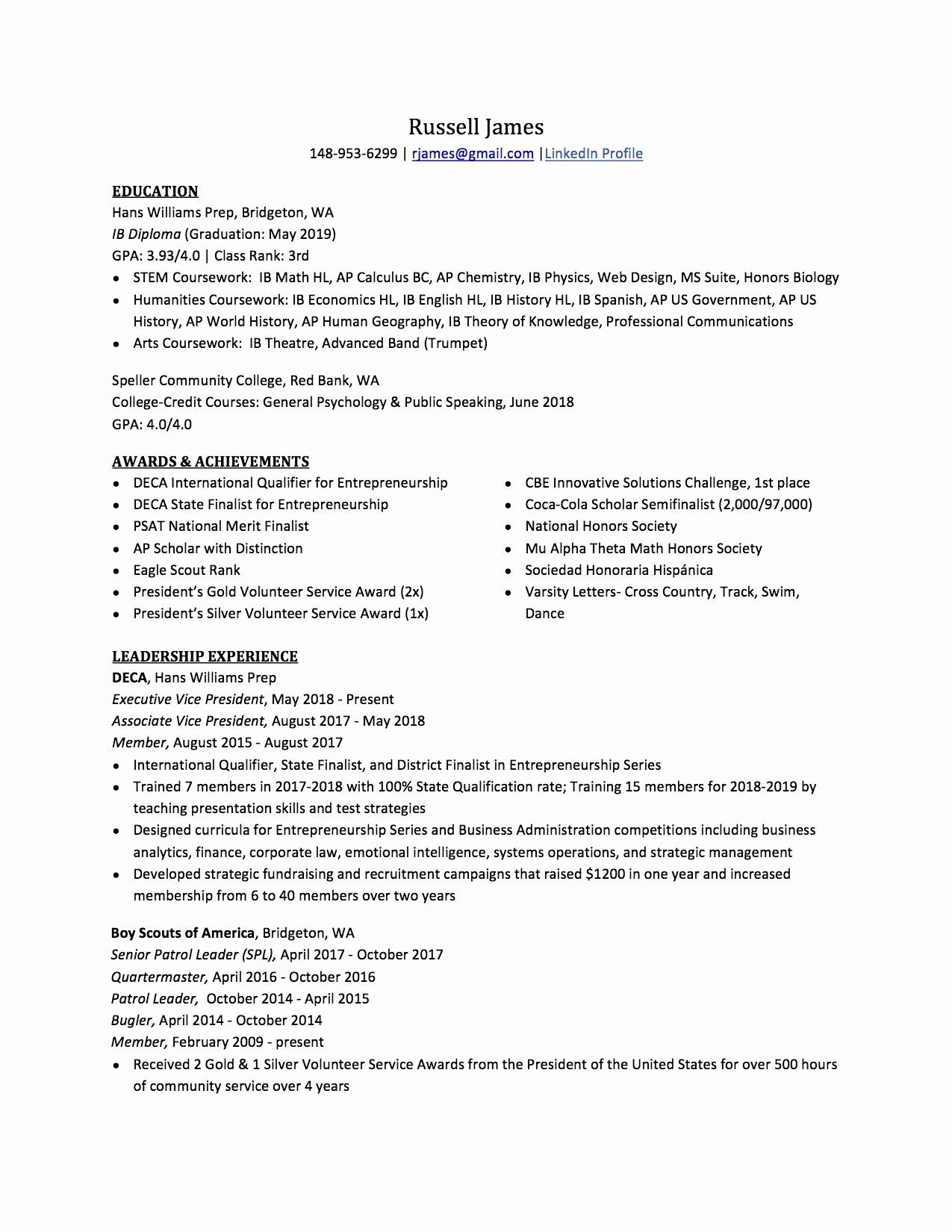 national honor society description resume inspirational high school to write the best te Resume Honor Society On Resume