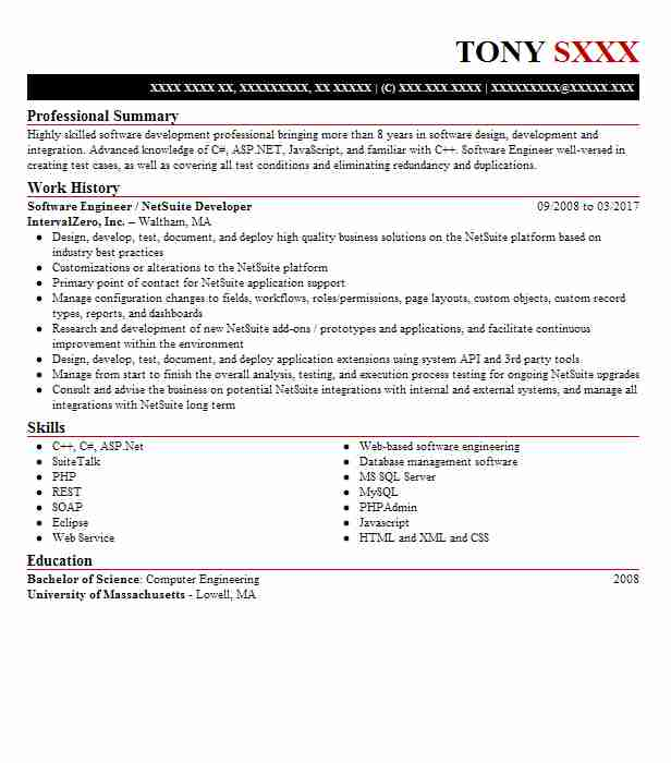 netsuite developer resume example ernst and administrator business consultant analyst Resume Netsuite Administrator Resume