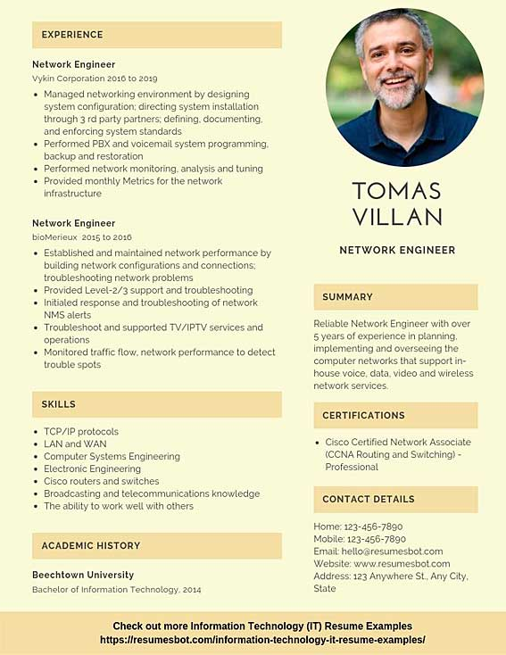 network engineer resume samples templates pdf resumes bot with year experience example Resume Network Engineer Resume With 2 Year Experience