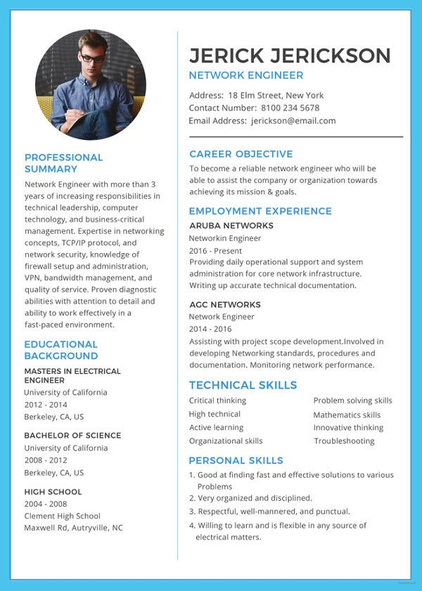 network engineer resume templates pdf free premium with year experience simple template Resume Network Engineer Resume With 2 Year Experience
