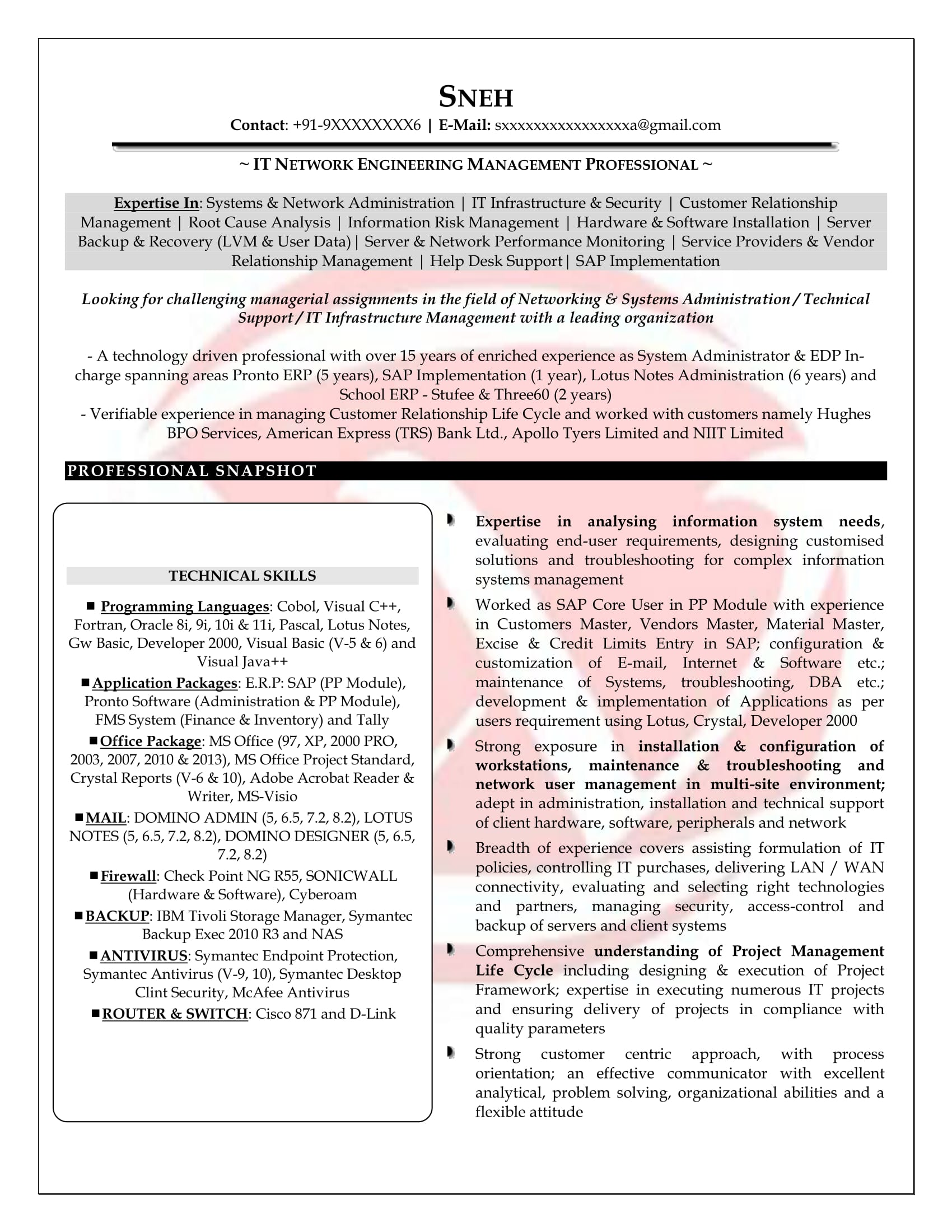 network engineer sample resumes resume format templates for with ccna fresher experienced Resume Resume For Network Engineer With Ccna Fresher