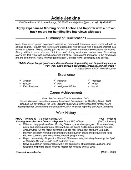 news reporter resume example in job examples samples track and field sample professional Resume Track And Field Resume Sample