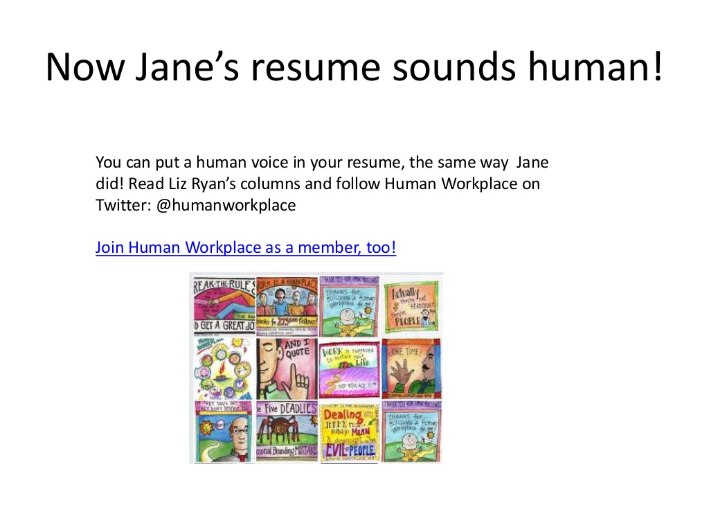now jane resume sounds human voiced example slide realtor mcdonalds press release Resume Human Voiced Resume Example