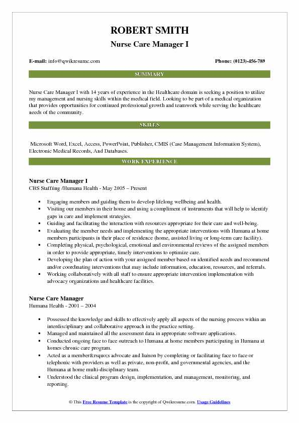nurse resume samples examples and tips summary statement care manager pdf writing lab Resume Summary Statement Examples Resume