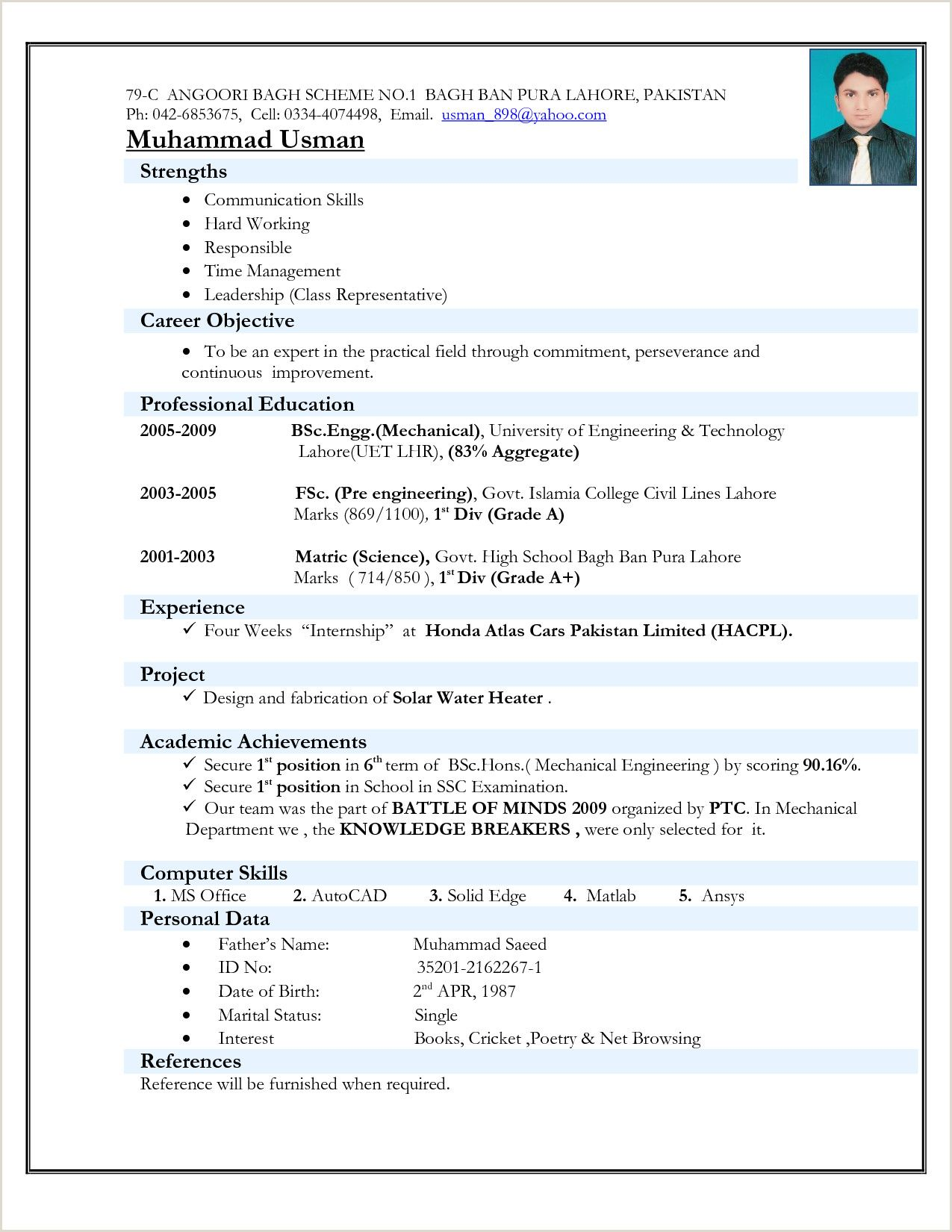 nursing fresher resume format best examples for bsc students collections representative Resume Resume Format For Bsc Students