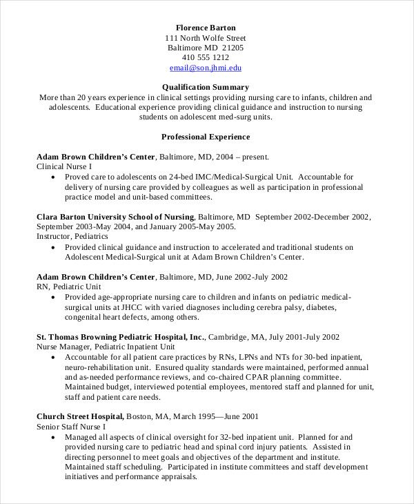 nursing student resume clinical experience template nurse with sample for ojt psychology Resume Resume With Clinical Experience