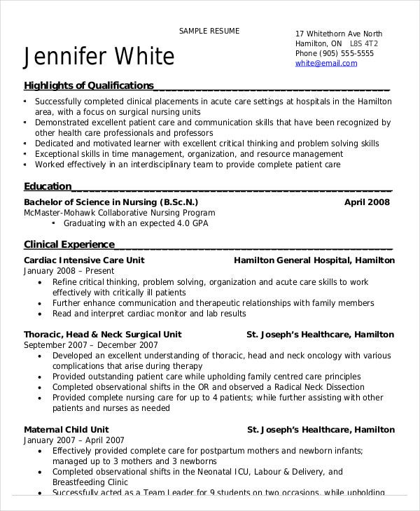 nursing student resume example free word pdf documents premium templates with clinical Resume Resume With Clinical Experience