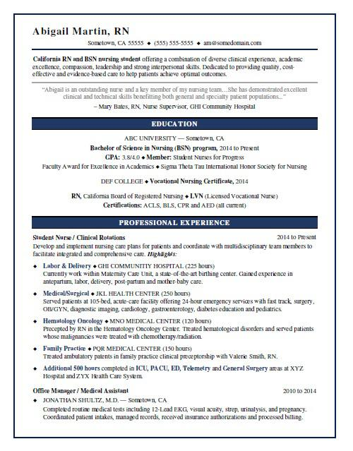 nursing student resume sample monster with clinical experience service station manager Resume Resume With Clinical Experience