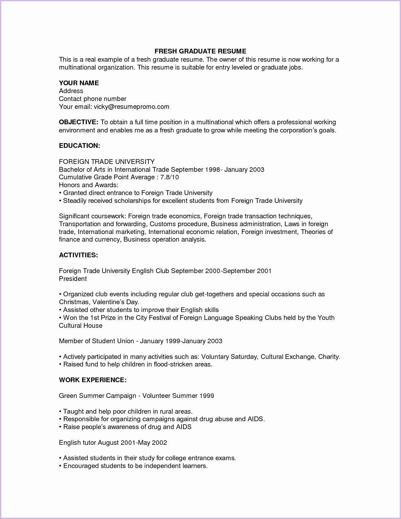 objective in resume for fresh job samples best format objectives graduates sample special Resume Best Resume Objectives For Fresh Graduates